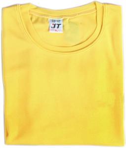 吸濕排汗素面T恤-黃色