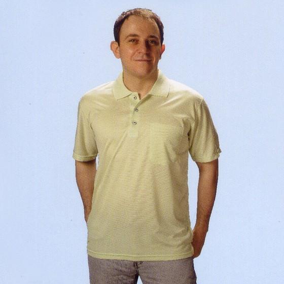 三磚排汗短袖POLO衫-果綠色