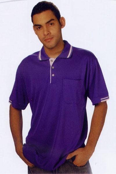 短袖排汗POLO衫-紫色