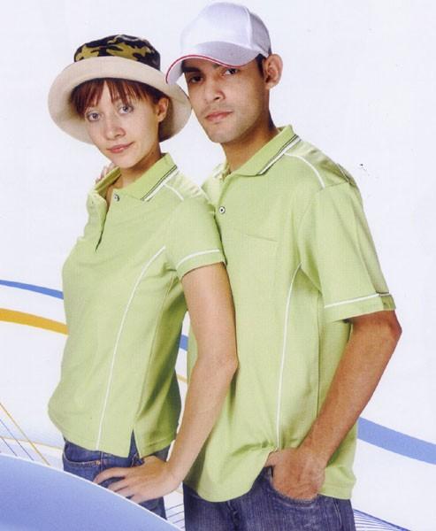 抗菌吸濕排汗短袖POLO衫-果綠色(中性版)