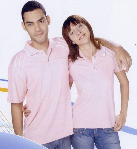 抗菌吸濕排汗短袖POLO衫-粉紅色(中性版)