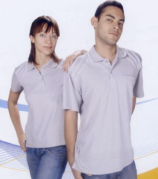 抗菌吸濕排汗短袖POLO衫-淺灰色(中性版)