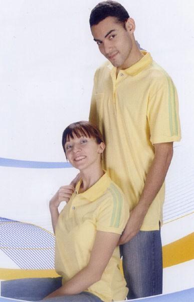 抗菌吸濕排汗短袖POLO衫-黃色(女版)