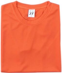 吸濕排汗素面T恤-橘色