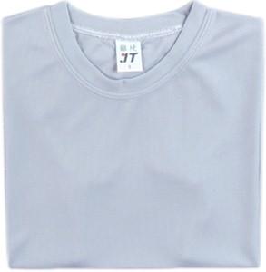 吸濕排汗素面T恤-淺灰色