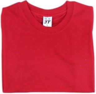 吸濕排汗素面T恤-紅色