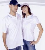 抗菌吸濕排汗短袖POLO衫-白色(女版)