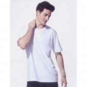 短袖圓領棉質T恤-白色