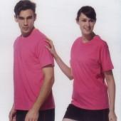 短袖圓領棉質T恤-粉紅色
