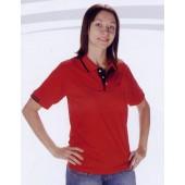短袖排汗POLO衫-紅色