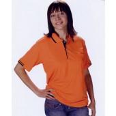 短袖排汗POLO衫-橘色