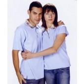 抗菌吸濕排汗短袖POLO衫-水藍色(女版)