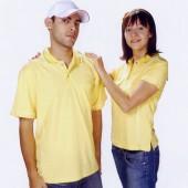 抗菌吸濕排汗短袖POLO衫-黃色(中性版)