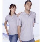 抗菌吸濕排汗短袖POLO衫-淺灰色(女版)