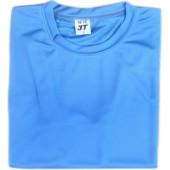 吸濕排汗素面T恤-翠藍色